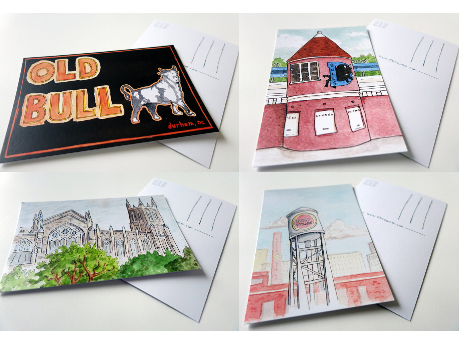 Image for Durham Watercolor Post Cards